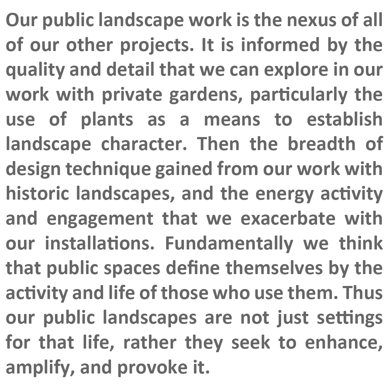 FFLO text describing our approach to public landscapes